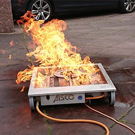 Simulation eines Fettbrandes